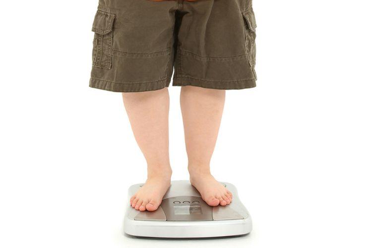 Ilustrasi anak obesitas