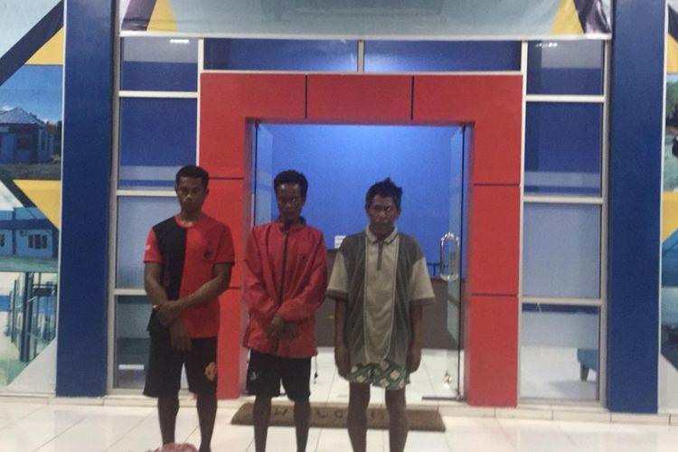 Tiga nelayan asal Kabupaten Kupang, NTT diamankan beserta barang bukti di Stasiun PSDKP Kupang