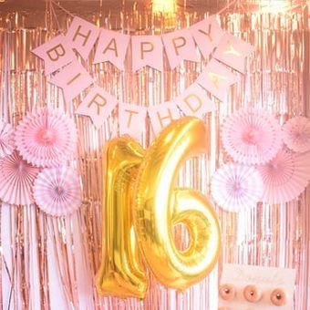 Ilustrasi dekorasi ulang tahun