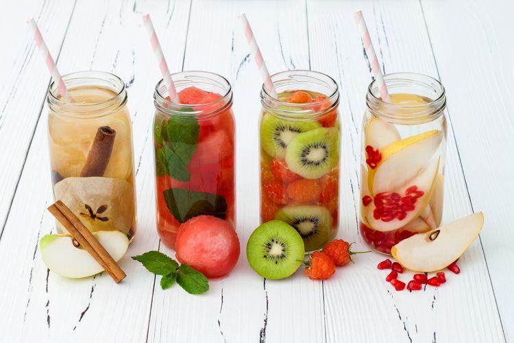 Ilustrasi Minuman buah-buahan