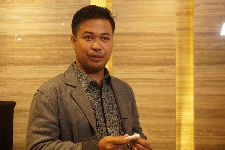 CEO PT Jouska Financial Indonesia Aakar Abyasa Fidzuno dalam acara konferensi pers mengenai kasus investasi klien Jouska, Selasa (1/9/2020).