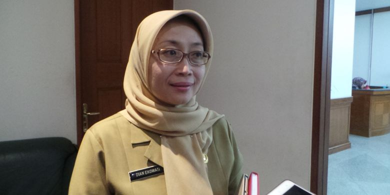 Kepala Dinas Komunikasi, Informatika, dan Statistik (Kominfotik) DKI Jakarta Dian Ekowati, di Balai Kota DKI Jakarta, Senin (27/3/2017).