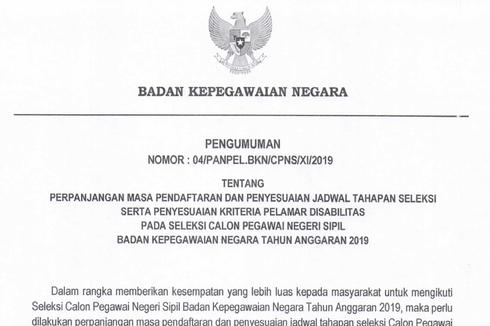 Buruan Daftar, CPNS 2019 BKN Diperpanjang hingga 30 November