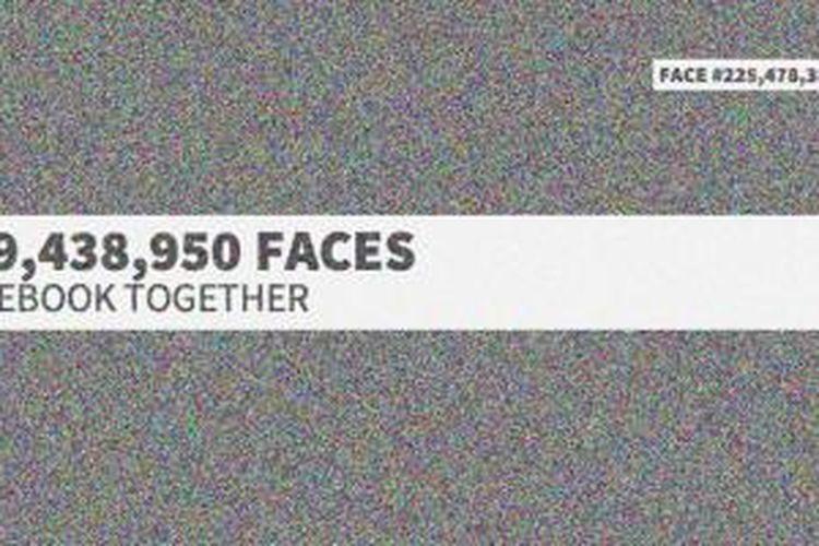 Tampilan situs The Faces of Facebook
