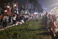 Bubaran Pembukaan Asian Games, Jalur Hijau di Jalan Jenderal Sudirman Terinjak-injak