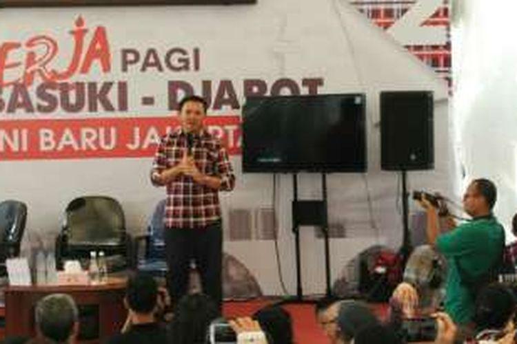 Gubernur DKI Jakarta non-aktif Basuki Tjahaja Purnama (Ahok) di Rumah Lembang, Menteng, Jakarta Pusat, Rabu (14/12/2016).