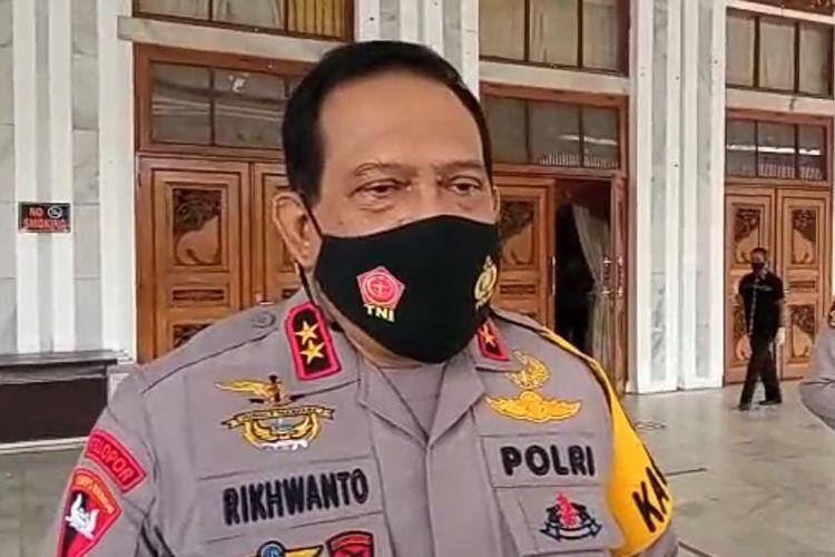 Kapolda Kalsel, Irjen Rikhwanto memberikan keterangan terkait banjir di Kalsel, Kamis (14/1/2021).