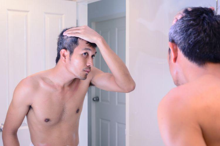 Ilustrasi rambut ubanan