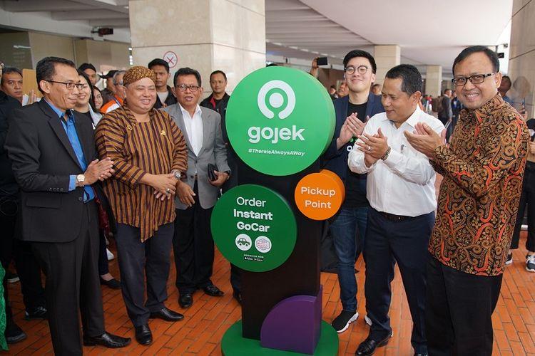 Peresmian Titik Jemput GoCar Instan di Terminal 2 Bandara Soekarno Hatta, Selasa (10/9/2019).