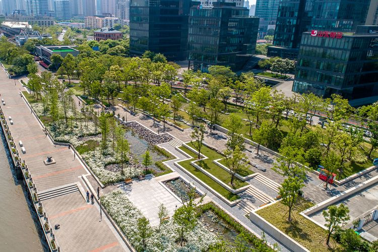 Taman Kota di Shanghai karya Design Land Collaborative
