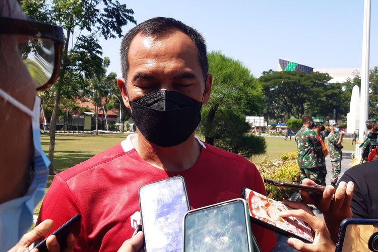 Danrem 074/Warastratama Surakarta yang juga akan menempati jabatan baru sebagai Wakil Komandan Jenderal Kopassus, Brigjen TNI Deddy Suryadi ditemui wartawan di Makorem 074/Warastratama Surakarta, Rabu (1/9/2021).
