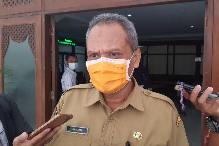 Ketua Pelaksana Satgas Covid-19 Solo yang juga Sekretaris Daerah Solo Ahyani ditemui di Balai Kota Solo, Jawa Tengah, Senin (19/4/2021).
