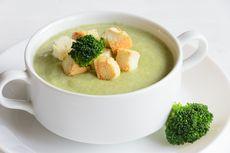 Resep Sup Brokoli Kental Tabur Jamur, Makanan Penambah Imun Tubuh