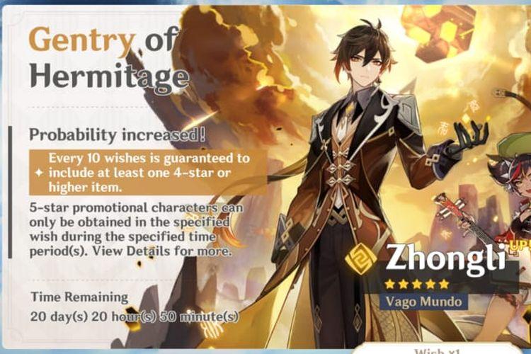 Banner gacha Zhong Li di Genshin Impact