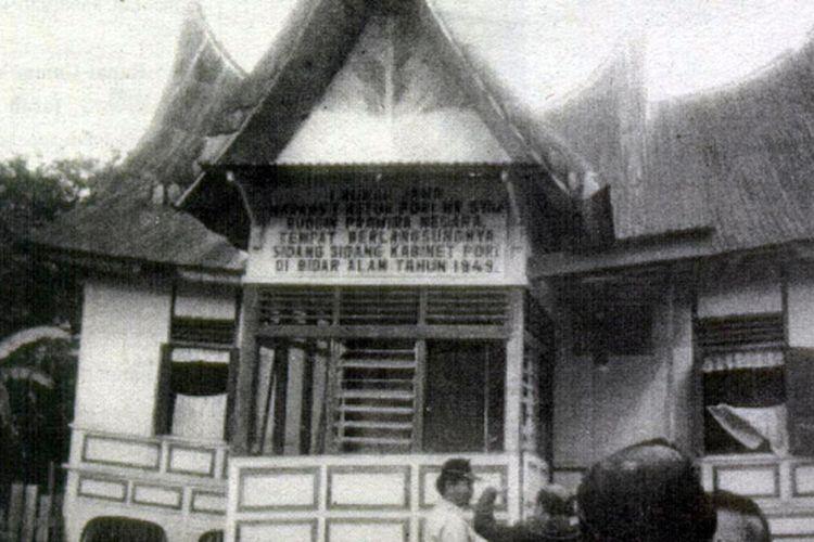 Rumah Ketua PDRI, Sjafruddin Prawiranegara di Bidar Alam Solok Selatan, Sumatera Barat.