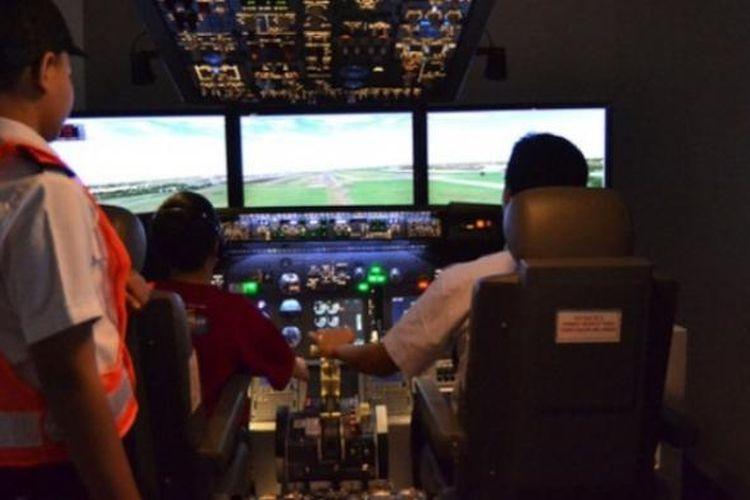 Ilustrasi: Simulator pesawat terbang