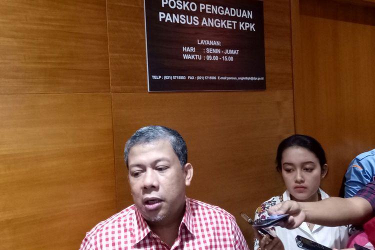 Wakil Ketua DPR Fahri Hamzah di Kompleks Parlemen
