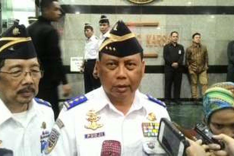 Direktur Jenderal Perhubungan Darat Pudji Hartanto Iskandar di Kantor Kementerian Perhubungan, Jakarta, Kamis (7/4/2016)