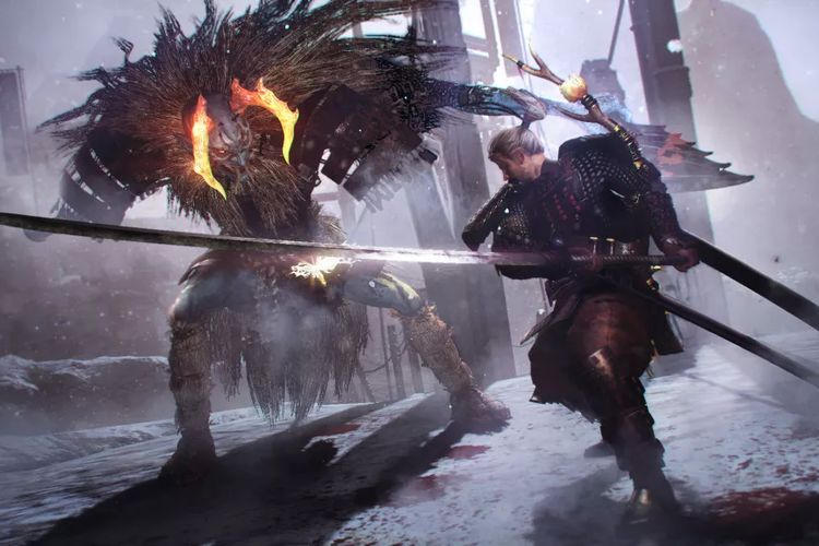 Ilustrasi gameplay Nioh: The Complete Edition.