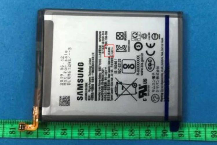 Ilustrasi baterai Galaxy M20S dengan kapasitas baterai 6.000 mAh