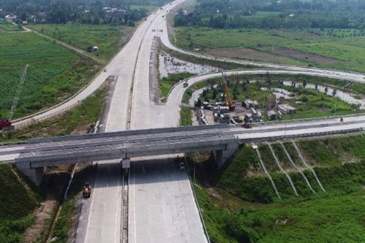 Progres pengerjaan Jalan Tol Medan-Kualanamu-Tebing Tinggi (MKTT).