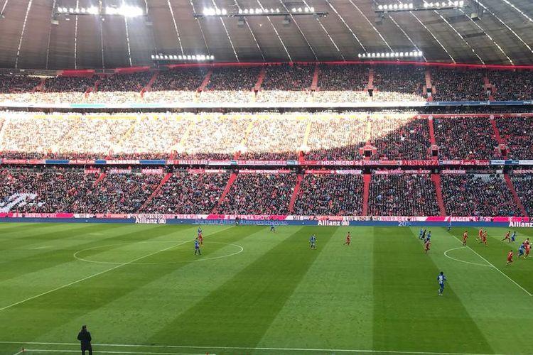 Markas Bayern Muenchen, Allianz Arena, menjadi tuan rumah ajang Audi Cup.