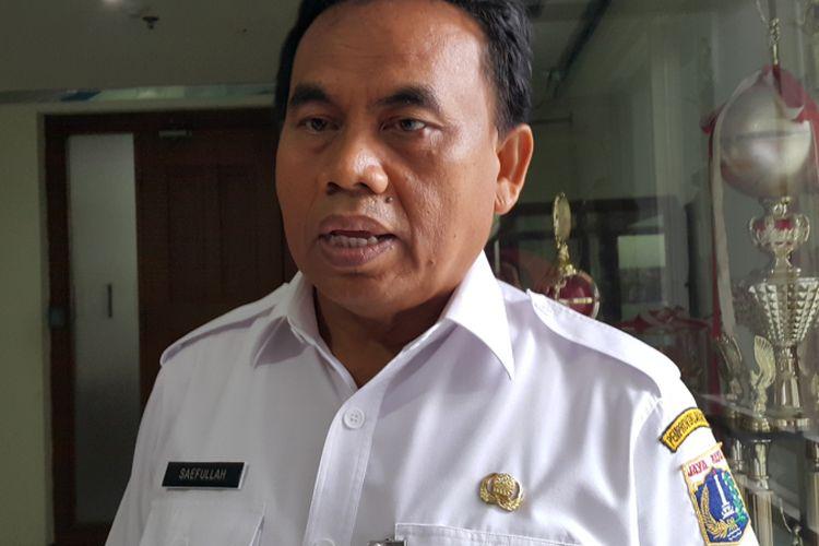 Sekretaris Daerah DKI Jakarta Saefullah di Balai Kota DKI Jakarta, Jalan Medan Merdeka Selatan, Rabu (21/6/2017).