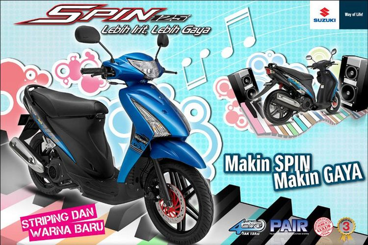 Skutik Suzuki Spin 125 yang kurang laris di pasaran