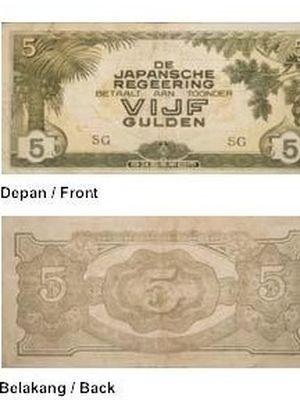 Uang kertas Jepang (Museum Bank Indonesia)