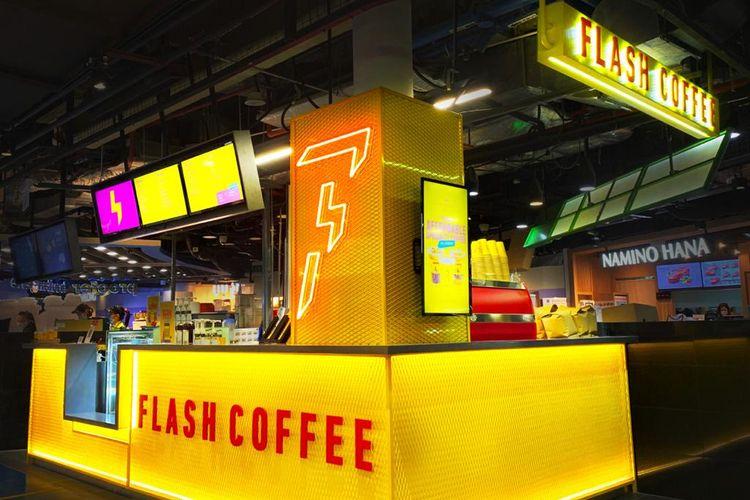 Salah satu gerai Flash Cofee