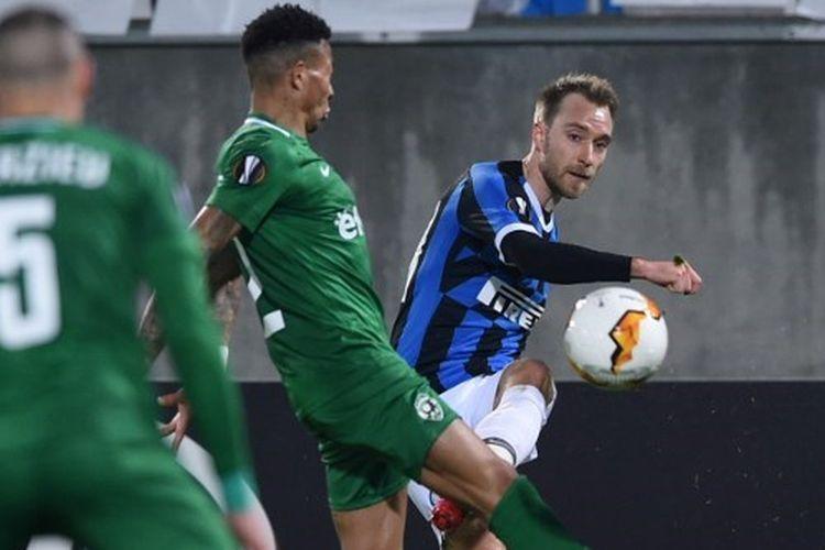 Penampilan Christian Eriksen pada laga Ludogorets vs Inter Milan, Jumat (21/2/2/2020) dini hari WIB.