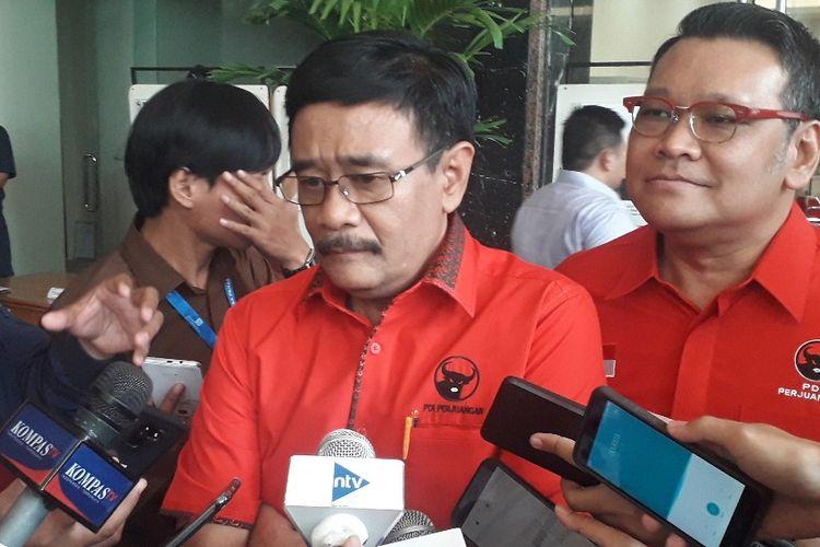 Ketua DPP PDI-P Djarot Saiful Hidayat saat ditemui di Kantor Kemenkumham, Rabu (25/9/2019).