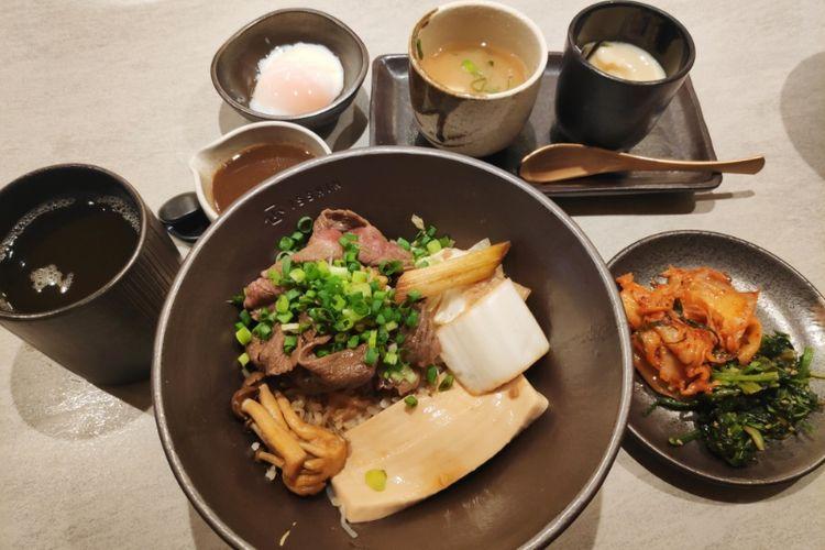 US Prime Beef Sukiyaki Din dari Isshin.