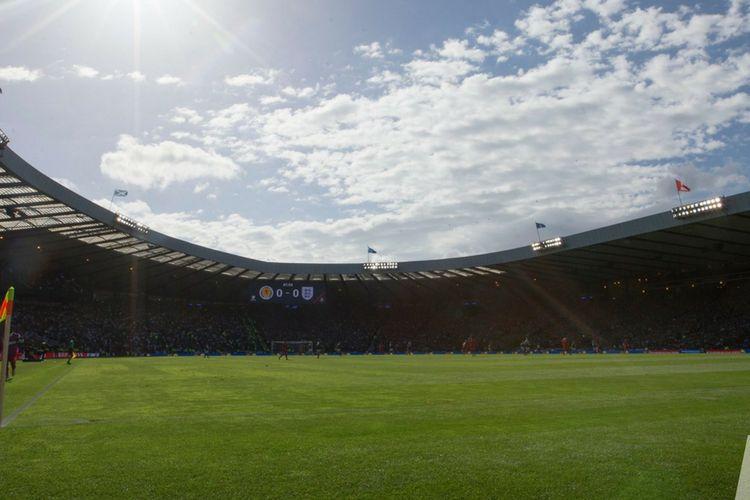 Suasana stadion Hampden Park saat laga antara timnas Skotlandia melawan Inggris pada Juni 2017.