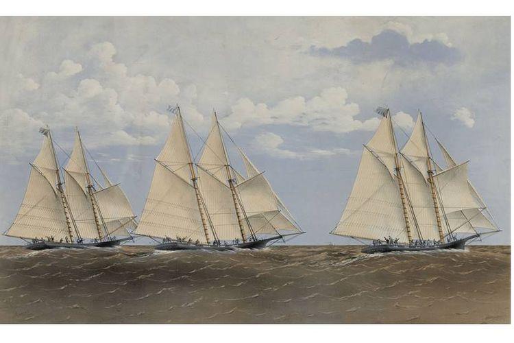 Henrietta, Fleetwing dan Vesta di Lautan
