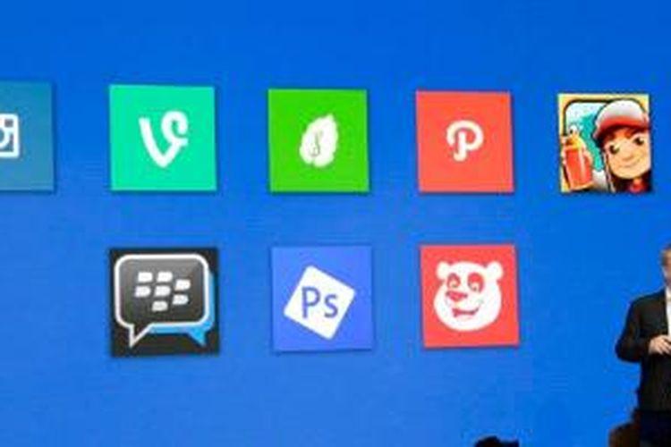 Stephen Elop mengumumkan kehadiran BBM di Windows Phone.