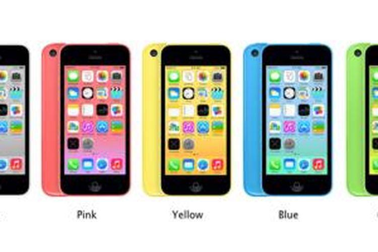 Pilihan-pilihan warna iPhone 5C