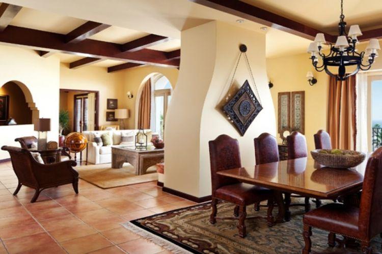 Ilustrasi rumah bergaya Mediteranea.