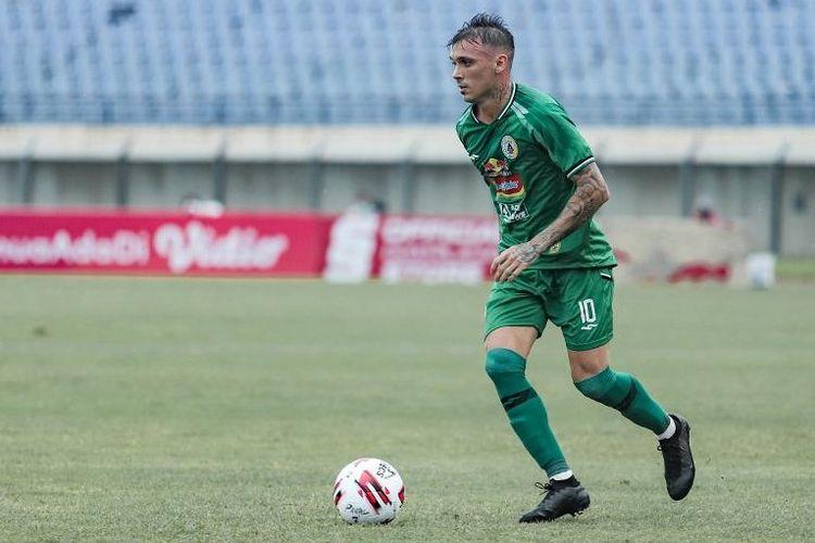 Penyerang PS Sleman Nicolas Velez pada Piala Menpora 2021, Bandung, Selasa (30/3/2021)