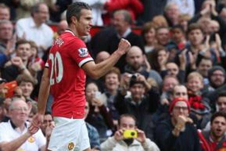 Striker Manchester United asal Belanda, Robin van Persie.