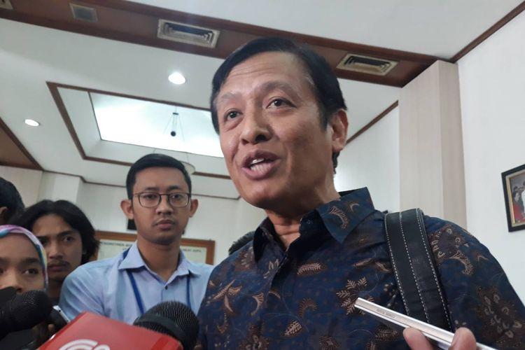 Staf Ahli Menteri Bidang Hukum Kementerian Komunikasi dan Informatika (Kominfo), Henri Subiakto, di Gedung KPU, Menteng, Jakarta Pusat, Selasa (20/8/2019).