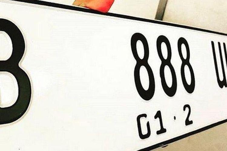 Ilustrasi plat nomor jenis baru