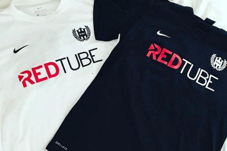 Logo RedTube di jersey Washington Square FC