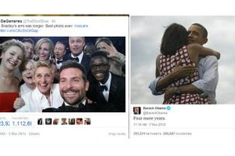 Setelah bertahan selama dua tahun, rekor retweet yang diterima akun Twitter resmi Presiden Barrack Obama akhirnya dipecahkan