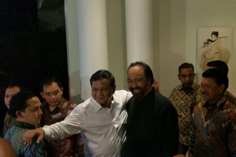 Ketua Umum Gerindra Prabowo Subianto menemui Ketua Umum NasDem Surya Paloh