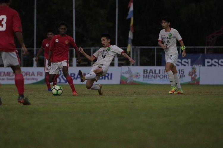 Timnas Pelajar U-15 Indonesia lolos ke babak final Bali International Football Championship (IFC) 2018 setelah mengalahkan tim asal China Hubei FC dengan skor 3-1 di Stadion Beji Mandala, Badung, Bali, Kamis (6/12/2018) malam.