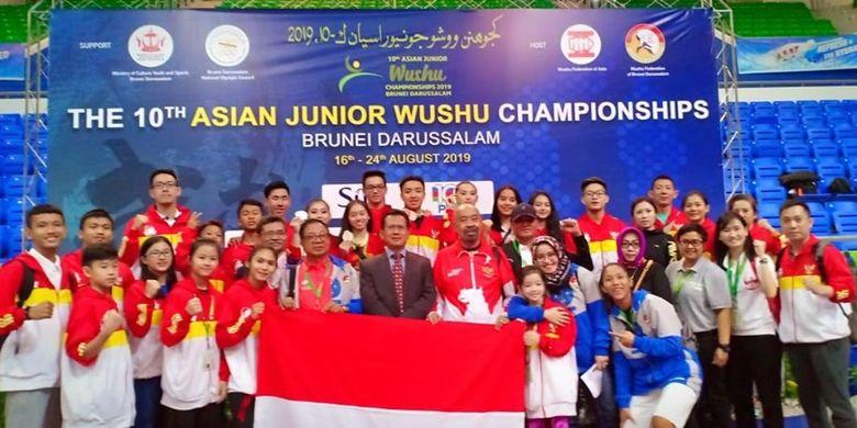 Tim wushu Indonesia melampaui target medali pada ajang 10th Asian Junior Wushu Championship yang berlangsung di Brunei Darussalam tanggal 17 sampai 23 Agustus 2019.