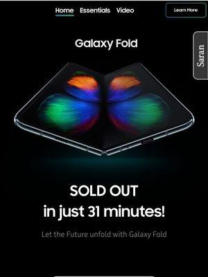 Galaxy Fold diklaim sold out dalam 31 menit saat dibuka sesi pemesanannya hari ini di Indonesia.