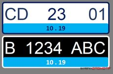 Resmi, Pelat Nomor Kendaraan Listrik Berwarna Biru