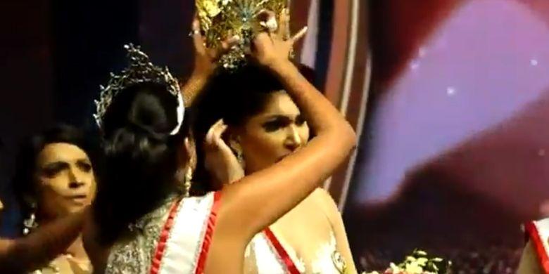 [VIDEO] Keributan di Panggung Mrs Sri Lanka, Mahkota Pemenang Dicopot Paksa karena Dituduh Cerai
